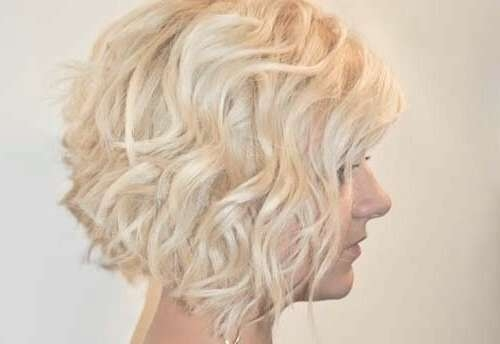 Layered Wavy Bob Hairstyles Blonde Hair Ideas Via   Medium Hair Inside Layered Curly Bob Haircuts (View 12 of 15)