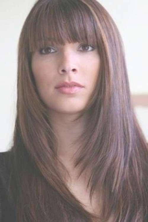 Long Bob Hairstyles With Fringe – New Hairstyles, Haircuts & Hair Pertaining To Long Bob Haircuts With Bangs (View 12 of 15)