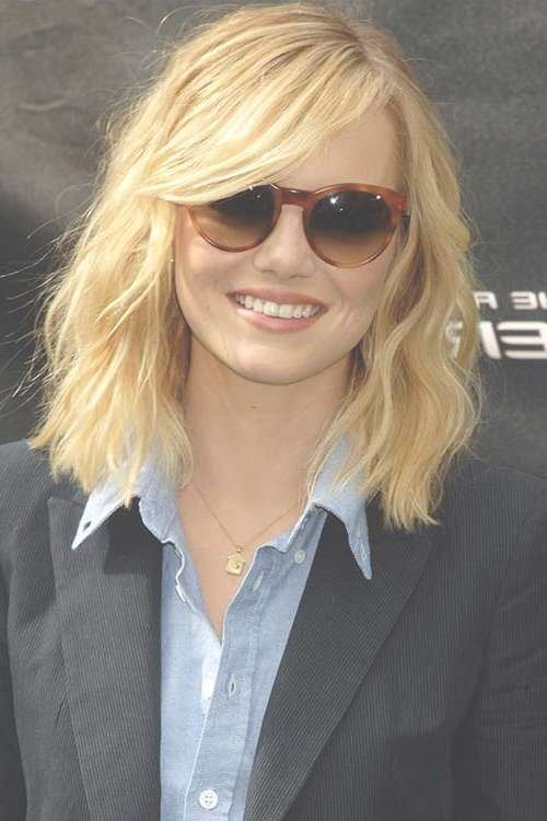 Long Hair With Blonde Bob Haircut For White Round Faces Also Within Long Bob Haircuts For Round Faces (View 8 of 15)