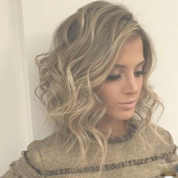 Messy Curly Long Bob Hairstyle – Popular Haircuts Within Long Curly Bob Haircuts (View 5 of 15)