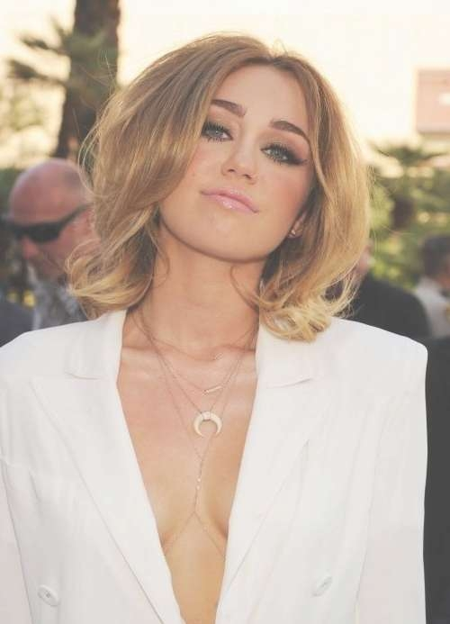 Miley Cyrus: 12 Impressive Hairstyles Of Any Hair Length – Pretty With Miley Cyrus Bob Haircuts (View 6 of 15)