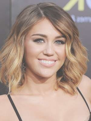 Miley Cyrus | Cheap Human Hair Extensions, Ombre Clip In Hair In Miley Cyrus Bob Haircuts (View 2 of 15)