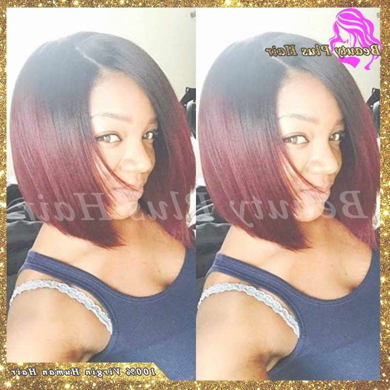 Online Shop 7A New Arrival Burgundy Bob Wigs Brazilian Full Lace For Burgundy Bob Hairstyles (View 11 of 15)