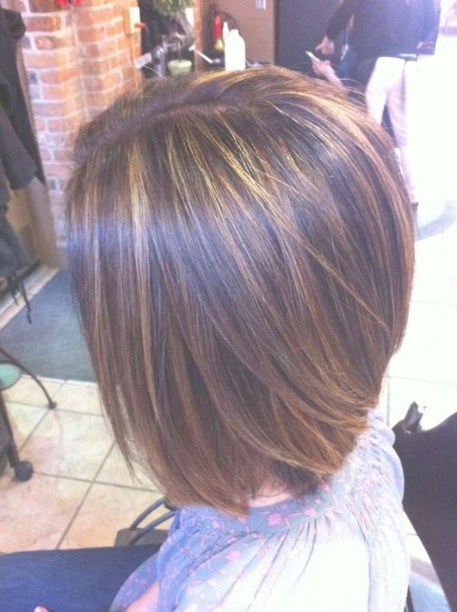 Popular Medium Bob Hairstyles With Bangs For Women | Hairjos Inside Bob Hairstyles With Highlights (View 10 of 15)