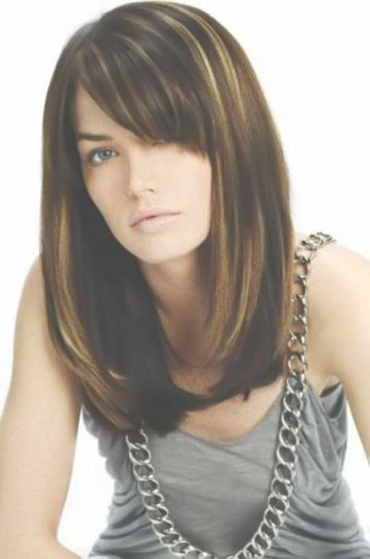 Photo Gallery of Shoulder Length Bob Haircuts With Bangs (Showing 15 ...