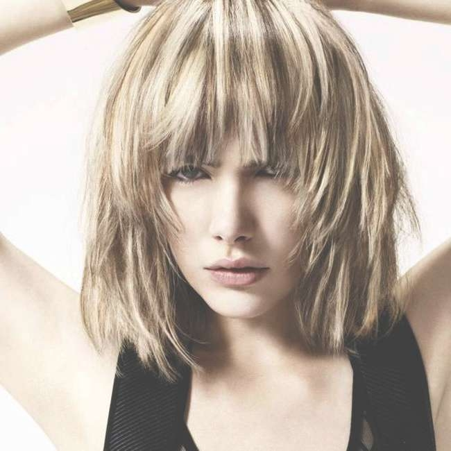 Shaggy Bob Haircuts With Bangs Spring Summer In Different Variants In Shaggy Bob Hairstyles With Bangs (View 10 of 15)