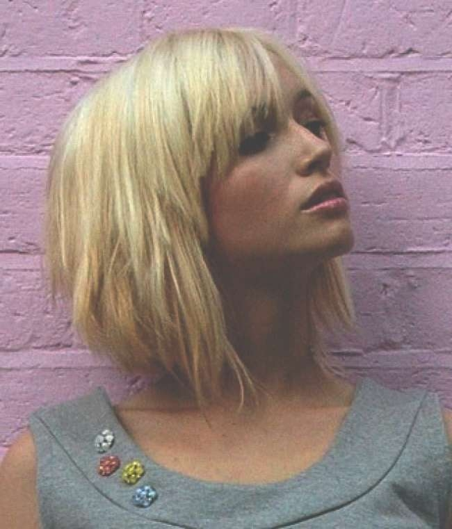 Displaying Gallery Of Shaggy Bob Hairstyles With Bangs View 3 Of 15