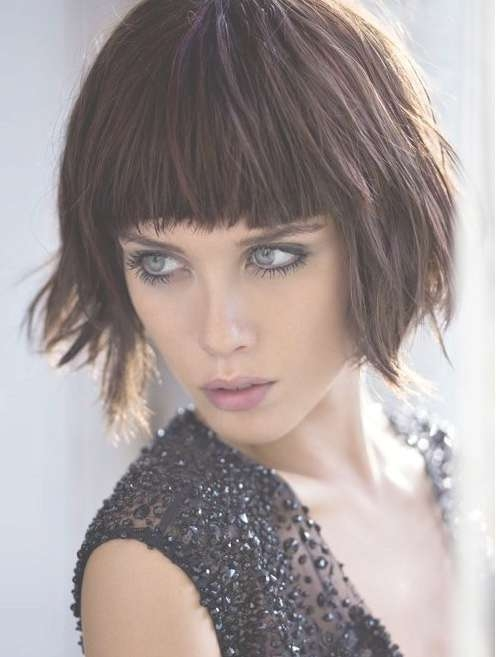 Shaggy Bob Haircuts With Blunt Bangs – Popular Haircuts Pertaining To Shaggy Bob Hairstyles With Bangs (View 9 of 15)