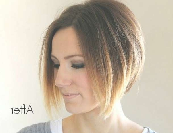 Short Angled Ombre Bob Haircut – Hairstyles Weekly Throughout Bob Hairstyles With Ombre (View 10 of 15)