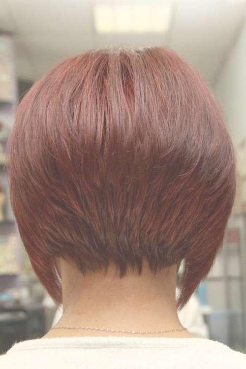 Short Bob Haircut Back View Luxurious – Wodip With Regard To Back Views Of Short Bob Haircuts (View 13 of 15)