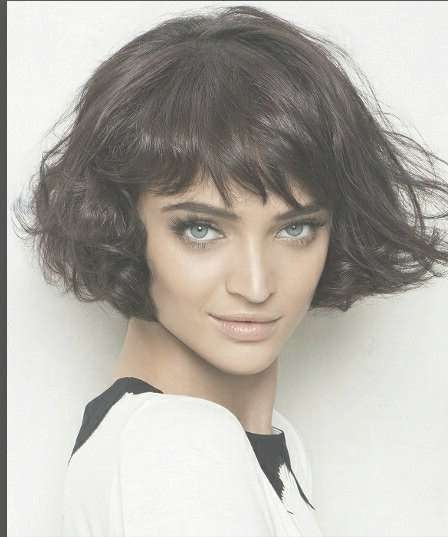 Short Bob Haircuts With Bangs   New Haircuts To Try For 2018 Pertaining To Short Curly Bob Haircuts With Bangs (View 6 of 15)