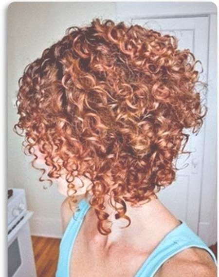 2018 popular stacked bob haircuts for curly hair