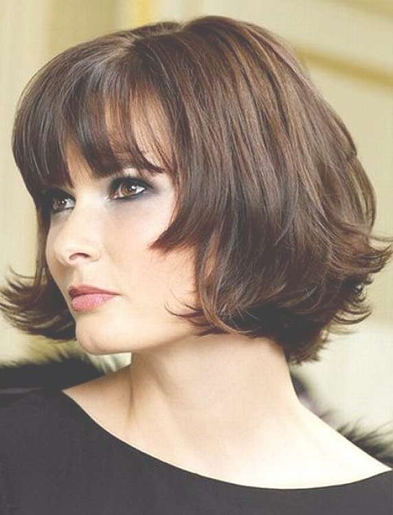 Short Hairstyles For Round Faces And Thick Hair – Women Hairstyles With Regard To Bob Haircuts With Bangs For Round Faces (View 15 of 15)