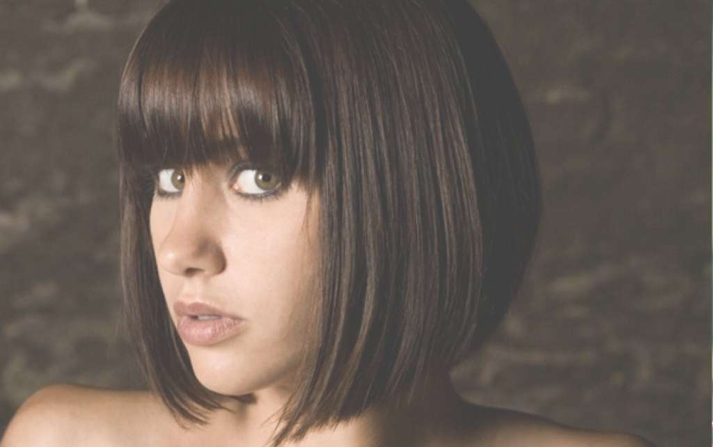 Short Hairstyles For Round Faces With Regard To Bob Haircuts With Bangs For Round Faces (View 5 of 15)