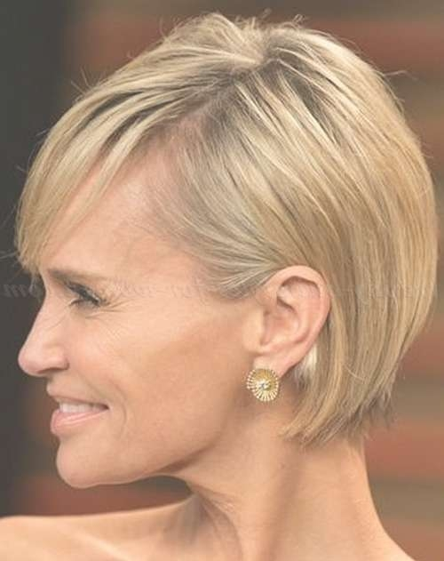 Short Hairstyles Women Over 50 Quoet Messy Hairstyle For