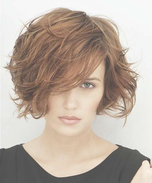Short Messy Bob Hairstyles For Thick Wavy Hair – Cool & Trendy For Short Bob Hairstyles For Thick Wavy Hair (View 5 of 15)