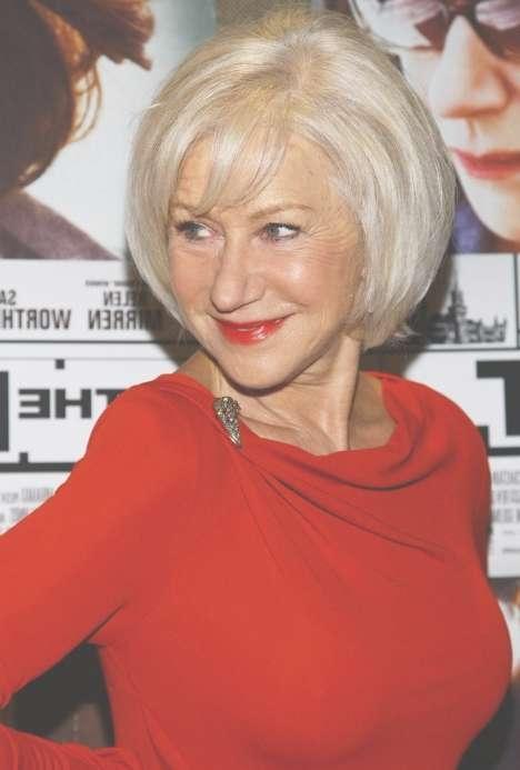 Short Straight Bob Hairstyles For Older Women Over 60 – Helen For Bob Hairstyles For Older Women (View 11 of 15)