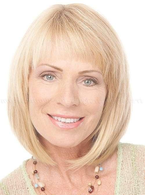 Shoulder Length Hairstyles Over 50 – Shoulder Length Bob Haircut With Regard To Medium Length Bob Haircuts With Bangs (View 3 of 15)