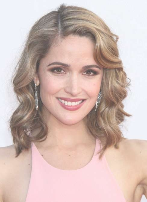 Side Parted Medium Wavy Bob Hairstyle For Women – Pretty Designs Intended For Medium Curly Bob Haircuts (View 7 of 15)
