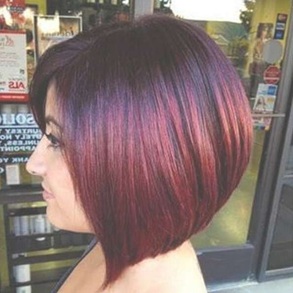 Straight Bob Haircut – Stunning New Red Hair Colour Ideas With Regard To Hair Color For Bob Haircuts (View 4 of 15)