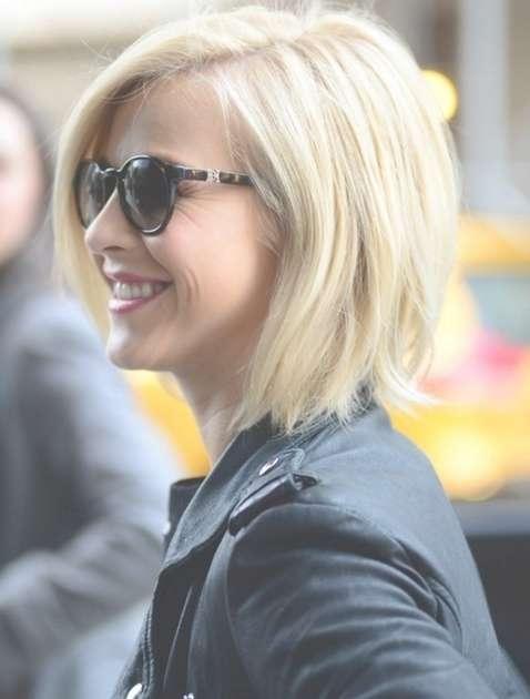 Straight Bob Hairstyles: Blonde Short Hair – Popular Haircuts For Blonde Short Bob Haircuts (View 7 of 15)