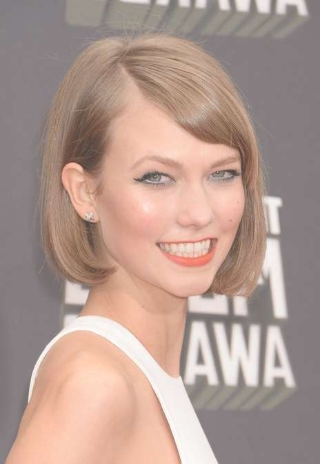 Sweet Short Haircut – Blonde Bob Hairstyle For Short Hair From Within Karlie Kloss Bob Hairstyles (View 5 of 15)