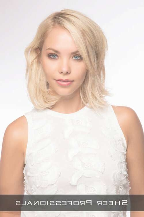 The 21 Most Flattering Bob Hairstyles For Round Faces In Long Bob Hairstyles For Round Face (View 8 of 15)