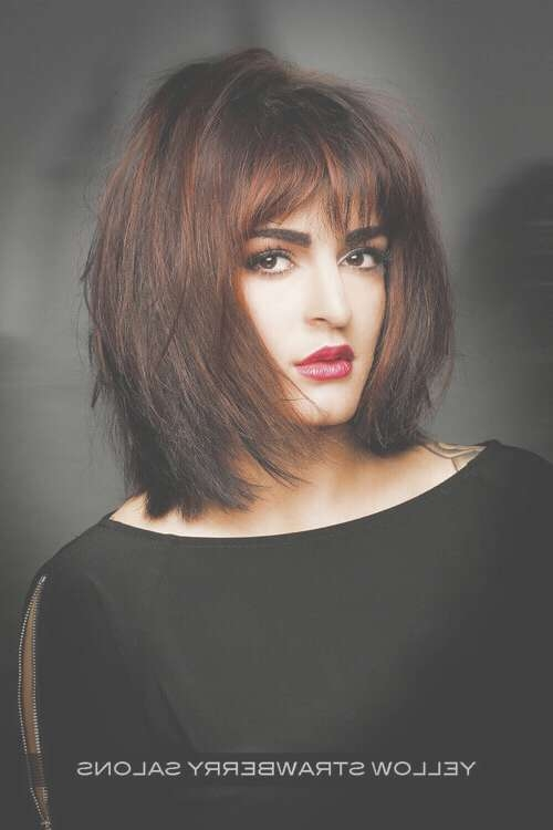 The 21 Most Flattering Bob Hairstyles For Round Faces Within Bob Haircuts For Round Faces (View 8 of 15)