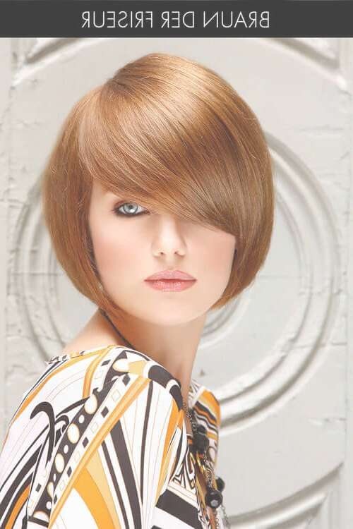 The 24 Ultimate Short Hairstyles For Long Faces Inside Bob Haircuts With Bangs For Long Faces (View 10 of 15)