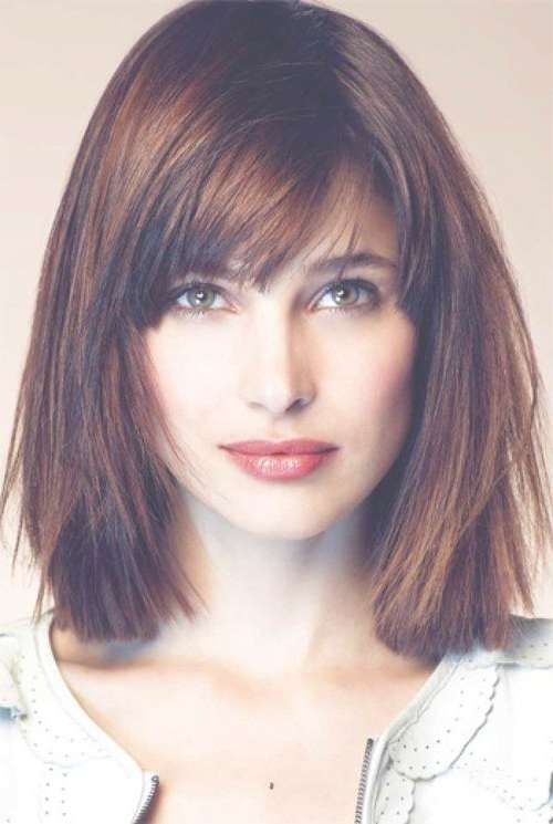 The Best Side Swept Bangs For Square Face Shape | Hair | Pinterest Pertaining To Bob Haircuts With Bangs For Long Faces (View 9 of 15)