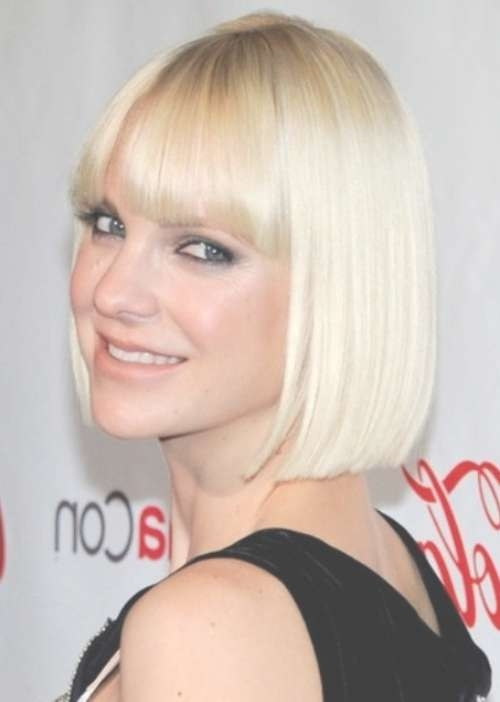 Top 25 Short Blonde Hairstyles We Love! – Part 14 Throughout Blonde Bob Haircuts With Bangs (View 13 of 15)