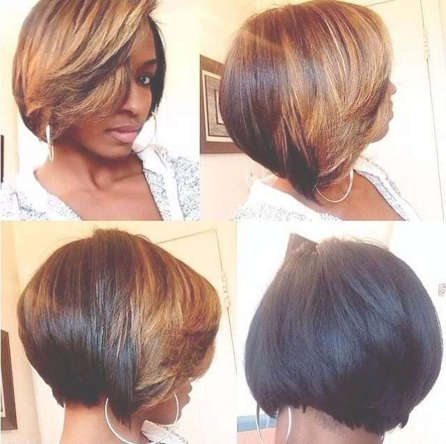 Trendy Two Tone Short Hairstyle For Black Women – Hairstyles Weekly In Short Bob Hairstyles For African American Hair (View 2 of 15)