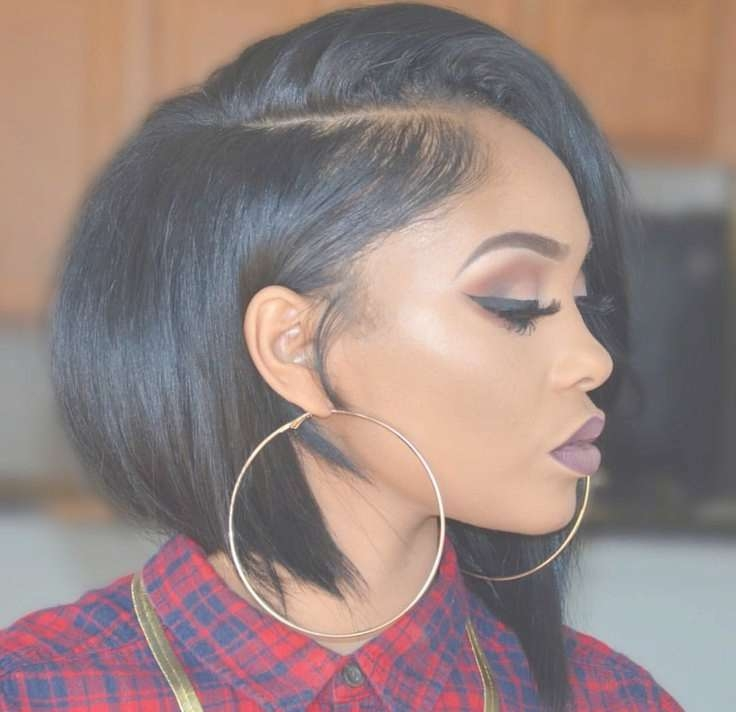 Women Hairstyles : Curly Bob Hairstyles Black Woman Bob Hairstyles Inside Black Girl Bob Haircuts (View 11 of 15)