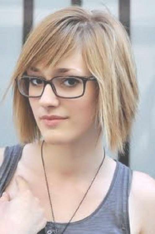 10 Best Short Hair & Glasses Images On Pinterest | Short Hair In Best And Newest Medium Hairstyles For Glasses Wearers (View 1 of 15)