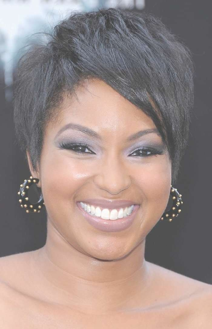 10 Best Short Hairstyles For Black Women Images On Pinterest For Most Recent Medium Haircuts For African American Women With Round Faces (View 21 of 25)