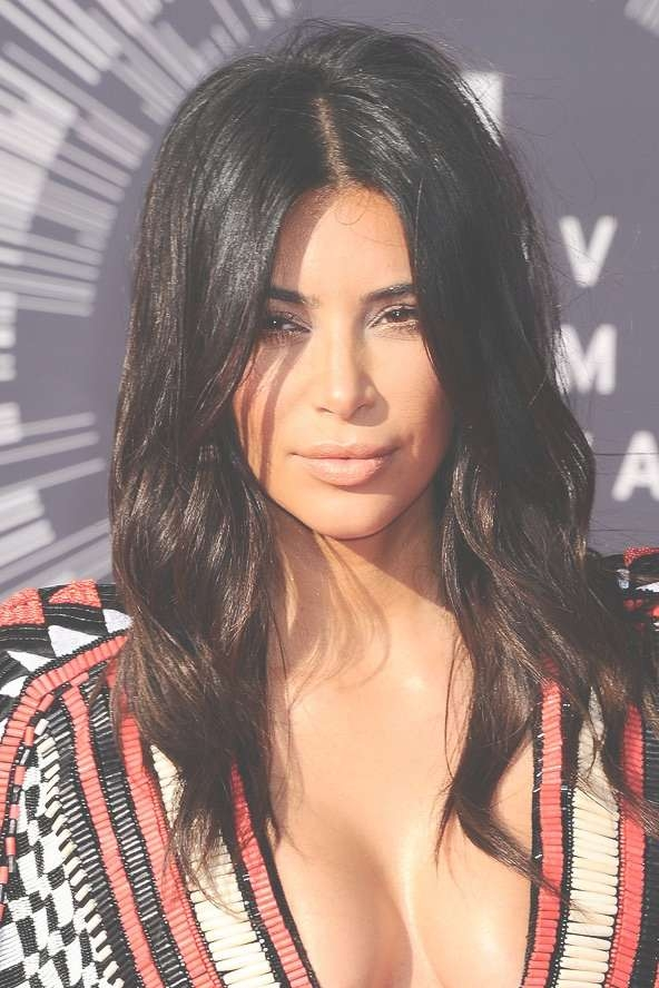 10 Celebrity Medium Length Hairstyles And Haircuts Within Best And Newest Kim Kardashian Medium Hairstyles (View 8 of 25)