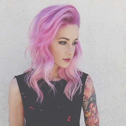 10 Emo Hairstyles For Girls With Medium Hair Pertaining To Most Up To Date Pink Medium Haircuts (View 11 of 25)