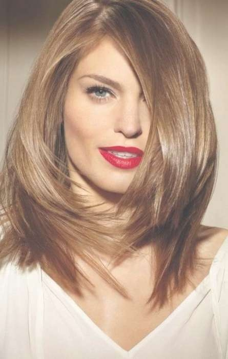 10 Medium Length Haircuts For Thick Hair | Hairstyles Update With Regard To Best And Newest Medium Hairstyles With Layers For Thick Hair (View 2 of 25)