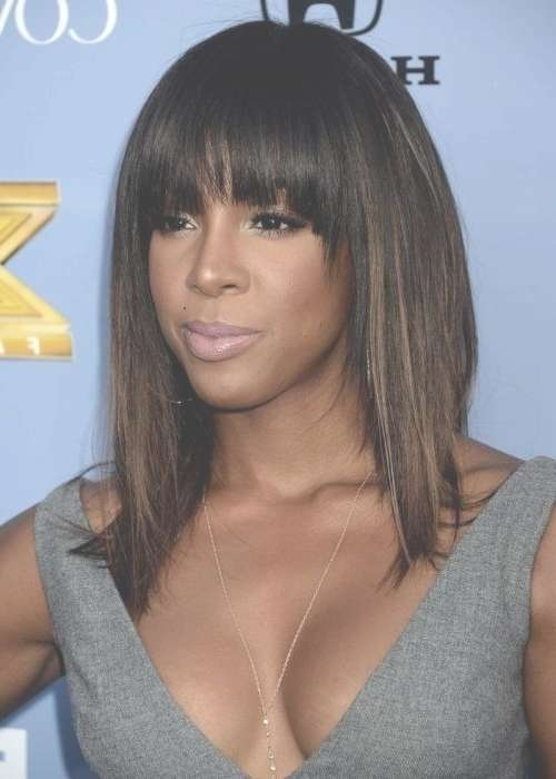 10 New Black Hairstyles With Bangs – Popular Haircuts Intended For Latest Black Medium Hairstyles With Bangs And Layers (View 2 of 25)