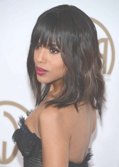 10 New Black Hairstyles With Bangs – Popular Haircuts Pertaining To Best And Newest Black Medium Hairstyles With Bangs And Layers (View 19 of 25)