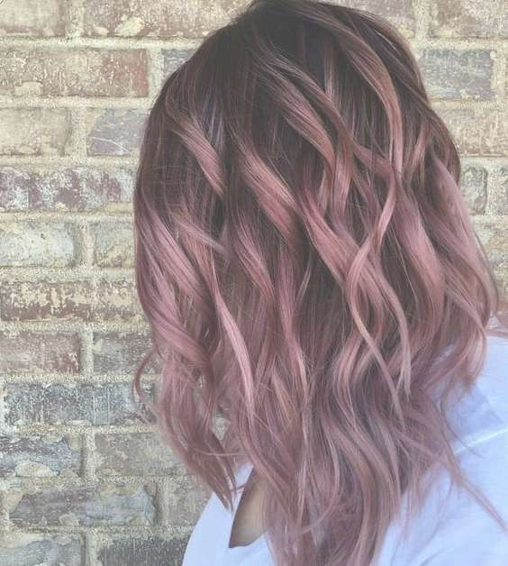 10 Pretty Pastel Hair Color Ideas With Blonde, Silver, Purple And In Latest Pink Medium Hairstyles (View 15 of 15)