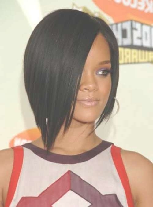 Rihanna Bob Hairstyles Front And Back View 31867 Loadtve