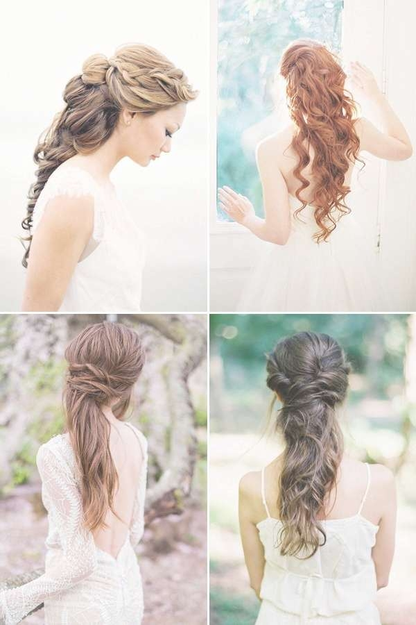 100+ Romantic Long Wedding Hairstyles 2018 – Curls, Half Up, Updos For Most Up To Date Wedding Long Down Hairstyles (View 11 of 25)