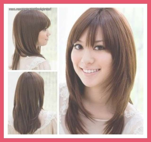11 Best Hair Cuts For Round Faces Images On Pinterest | Layered With Regard To Most Recent Round Face Medium Hairstyles With Bangs (View 12 of 25)
