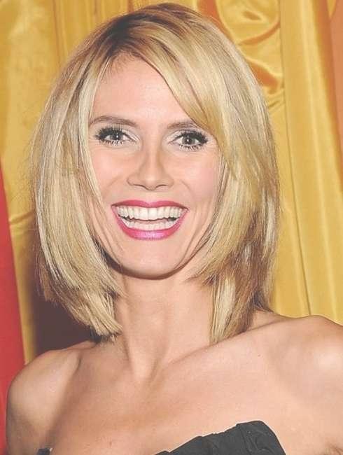 11 Heidi Klum Hairstyles: Classic Hairstyle – Popular Haircuts Within Latest Heidi Klum Medium Haircuts (View 23 of 25)
