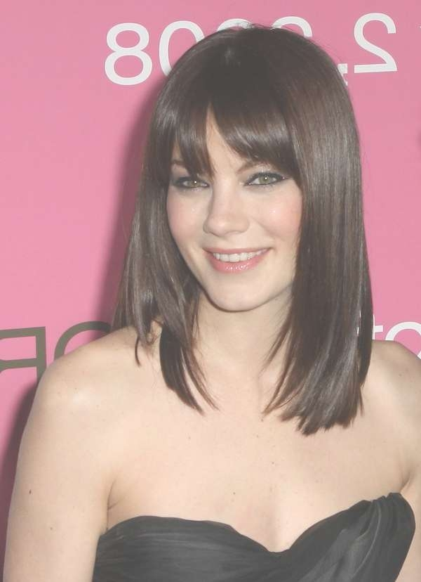 111 Best Layered Haircuts For All Hair Types [2018] – Beautified Intended For Most Recent Medium Haircuts Bangs (View 25 of 25)