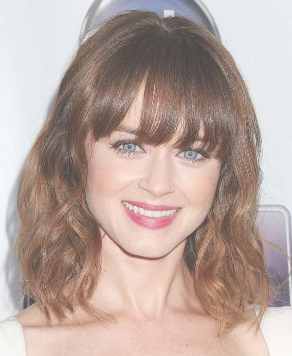 111 Best Layered Haircuts For All Hair Types [2018] – Beautified Throughout Latest Round Face Medium Hairstyles With Bangs (View 9 of 25)