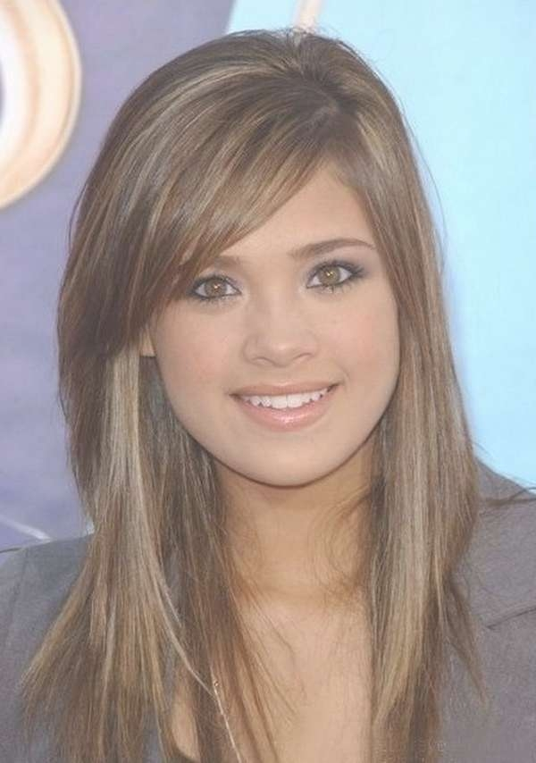 111 Best Layered Haircuts For All Hair Types [2018] – Beautified Within Latest Medium Haircuts With Long Side Bangs (View 13 of 25)