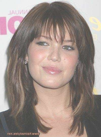 117 Best Hair Style Ideas Images On Pinterest | Hair Cut, Hair Throughout Best And Newest Round Face Medium Hairstyles With Bangs (View 6 of 25)