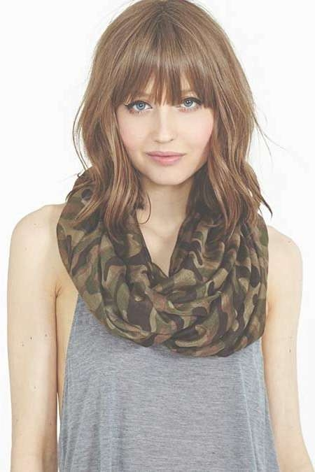 Featured Photo of Medium Hairstyles With Bangs For Round Faces